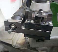Homemade tool post attachment for a high speed rotary tool