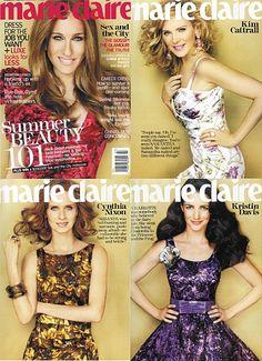Sex and the City Cover Girls: Sarah Jessica Parker, Kim Cattrall, Cynthia Nixon and Kristin Davis