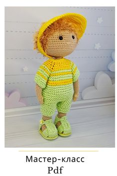 Crochet Doll Pattern, Crochet Patterns Amigurumi, Amigurumi Doll, Crochet Dolls, Crochet Gifts, Stuffed Toys Patterns, Crochet Animals, Handmade Toys, Doll Patterns