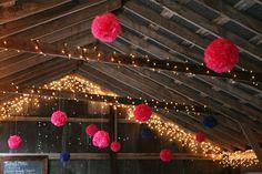 Ashleigh and Ryan's Gorgeous Handcrafted Farm Wedding. By Studio Laguna Farm Wedding, Boho Wedding, Wedding Ideas, Paper Pom Poms, Hay Bales, Coachella, Kittens, Horses, Studio