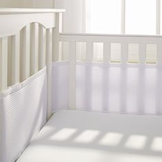 BreathableBaby Deluxe Breathable Mesh Crib Liner, White BreathableBaby