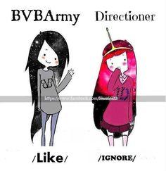 bvb girl vs 1D girl
