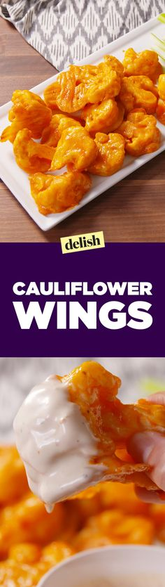 The internet is obsessed with making cauliflower wings instead of buffalo wings on game day. Get the recipe on Delish.com.