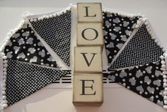 Bunting by Pink Elephants & Lemonade by BuntingPinkElephants Fabric Bunting, Pink Elephant, Lemonade, Etsy Seller, Hearts, Gift Wrapping, Valentines, Black And White, Creative