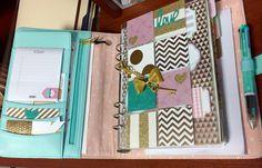 Mint Kikki.K Personal Planner setup #kikkik #planner #mint #dashboard