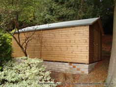 Garden Sheds Ripley deluxe apex tractor shed 11x6, double doors, no floor & brick base