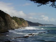Cape Arago, Oregon. NAVFAC Coos Head was on the cliffs above the ocean. Awesome place!