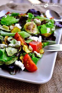 Cuisinons en Couleurs: Salade de courgettes grillées, tomates et fromage de chèvre : Es-tu un Veggister ?