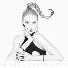 Scorpio by LiaGliavu #liagliavu #horoscope #illustration