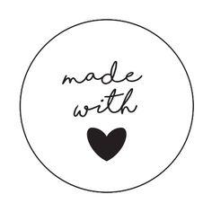 Sluitzegels made with love 1 vel stickers bevat 48 stuksDoorsnede Logo Online Shop, Small Business Quotes, Love Logo, Jewelry Quotes, Love Stickers, Gift Tags, Stationery, Logo Design, Scrapbooking