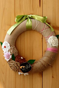 Burlap Valentine Wreath Floral Valentine Wreath by QuirkySewing
