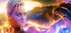 Captain Marvel being true to the tough character that she is in the comic books, bashing Thanos. Marvel Comics, Marvel Gif, Marvel E Dc, Marvel Heroes, Marvel Characters, Female Characters, Marvel Avengers, Mundo Marvel, Captain Marvel Carol Danvers