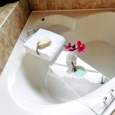 DIY Acrylic Bathtub Tray + DIY Coconut U0026 Honey Milk Bath