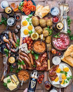 Food - Lebensmittel Likes, 150 Comments - Dennis The Prescott ( on Instagra Breakfast Platter, Breakfast Desayunos, Italian Breakfast, American Breakfast, Gourmet Breakfast, Cooking Recipes, Healthy Recipes, Diet Recipes, Easy Cooking