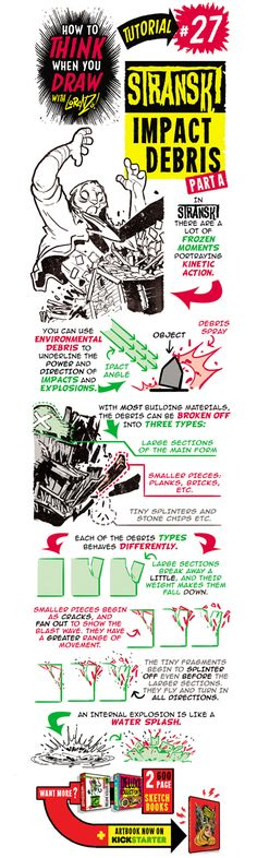 Here's the second of my special STRANSKI  tutorials, this one looking at how to draw IMPACT DEBRIS , useful for drawing explosions and destr...