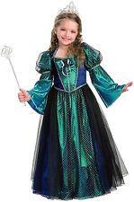 Sparkly Teal Twilight Renaissance Victorian Princess Girls Costume w/Hoop Skirt