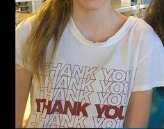 ThankYou White T shirt – Fresh-tops.com