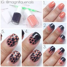 DIY nail polka dot look