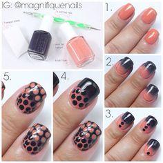 DIY nail polka dot look