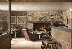 The Wild Rabbit, cosy pub with fireplace