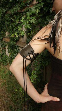 Elven leaf upper arm cuff with Rhyolite Custom made for by tahnaya