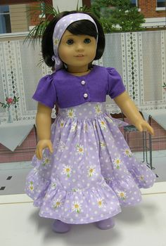 Daisy Dear Dress for American Girl doll with by cupcakecutiepie, $45.00