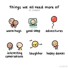 Can all be combined for 100% more happiness. #cute #hug #sleep #laughter #chibird #art