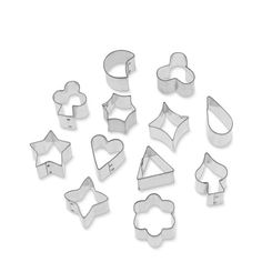 Decorative Small Cookie Cutters, Set of 12