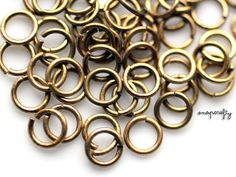 100pc small 6mm antique brass jump rings leadfree by snapcrafty