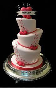 Whimsical heart wedding cake