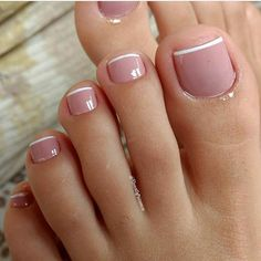 Toe nail designs, french pedicure designs, french tip pedicure, feet nail d Frensh Nails, Pink Toe Nails, Pretty Toe Nails, Cute Toe Nails, Toe Nail Color, Pink Toes, Feet Nails, Toe Nail Art, Gorgeous Nails
