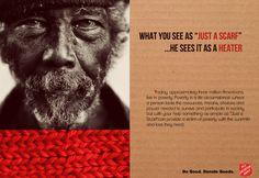 """Was du als """"nur ein Schal"""" ansiehst, ist für ihn seine Heizung. Aufruf zur Kleiderspende der #heilsarmee"""
