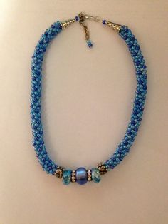 Kumihimo choker with accent beads
