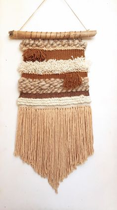 Boho Love' Woven Wall Hanging by FoundandFeathers on Etsy