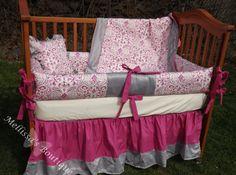 Custom Grey with Deep Pink Elegant Damask by mellissasboutique, $324.99-LOVE...wish it wasn't so much