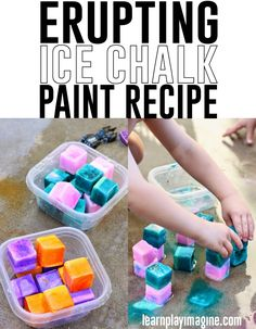 How to make erupting ice chalk paint
