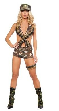 You won't find a more #sexy_army_costume for women than this brand new Military Babe Costume.