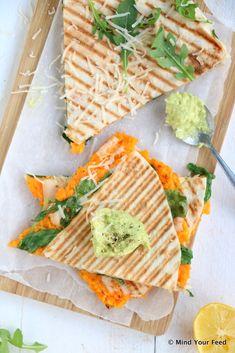 Avocado Dip, Tortilla Wraps, Food Crafts, Quesadillas, Foodies, Veggies, Lunch, Bread, Healthy
