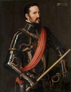 """""""Fernando Álvarez de Toledo, tercer duque de Alba"""", 1549, Antonio Moro."""