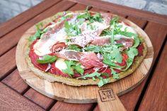 Glutenvrije havermout pizza met spinazie