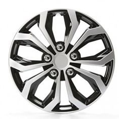 New Design 16 inch Hubcaps Spyder Performance Black and Silver Wheel Covers Hub Cap Full Lug
