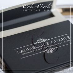 Gabrielle & Charle : Hard Cover Wedding Invitations Sydney designed by Ooh-Aah Invitations, wedding stationery sydney, hard cover invitations , wedding invitation cards