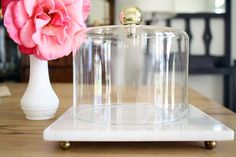 K.R.T. Home - Marble Cheese Dome - Vintage - Accessories