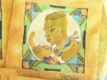 Drawn and painted on fabric - Placemats - Venda Woman