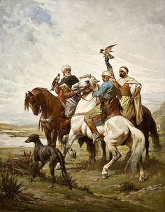 The Falcon Hunt - Nicolas Sicard Islamic Paintings, Old Paintings, Art Arabe, Culture Art, Arabian Art, Exotic Art, Art Et Illustration, Historical Art, Equine Art