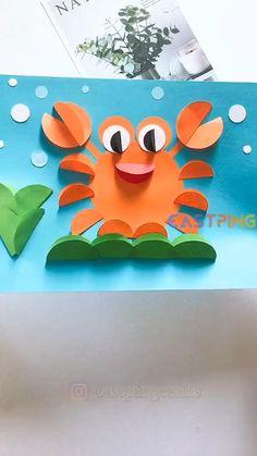 Diy Crafts For Kids Easy, Animal Crafts For Kids, Halloween Crafts For Kids, Craft Activities For Kids, Toddler Crafts, Creative Crafts, Preschool Crafts, Art For Kids, Easy Diy