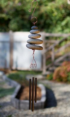 Natural Pacific Beach Stone Wind Chime