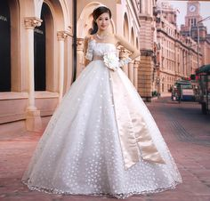 Chinese Empire Ball Gown Strapless Knee-length Organza Tiered ...