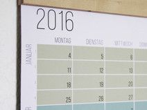 Pastell Wandkalender #2016 Türkis Aqua Grün Natur #wall #planner #wallplanner #Kalender #dawanda #wilano #wielangenoch