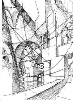 IMAGINARY JERUSALEM / Drawing by Stefan Davidovici, Architect - Milan, Italy   the architecture draftsman
